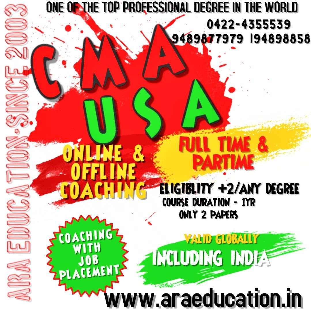 Certified Management Accountant Course United States  - USCMA