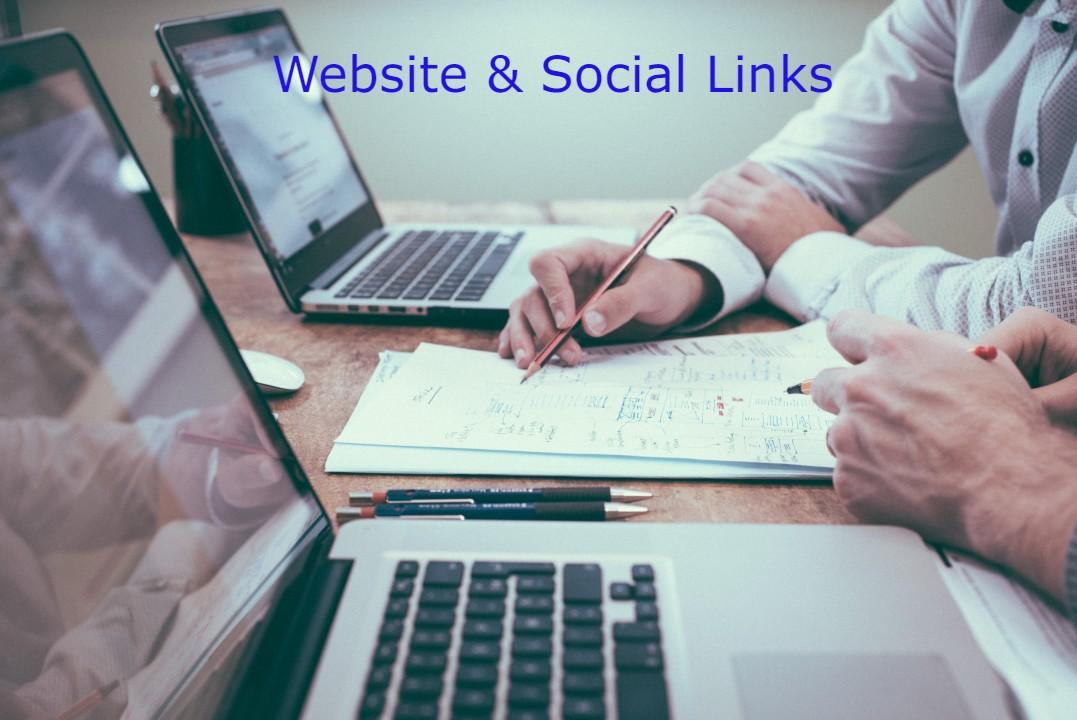 WEBSITE & SOCIAL LINKS